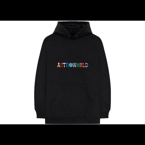 8d3fa928c5dd Shirts | Travis Scott Astroworld Hoodie Black | Poshmark